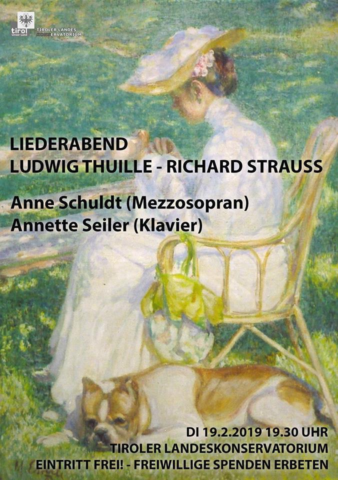 Strauss Liederabend Plakat