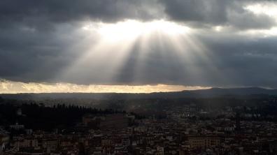 Auch der Himmel über Florenz war ganz zufrieden mit meiner Entscheidung...